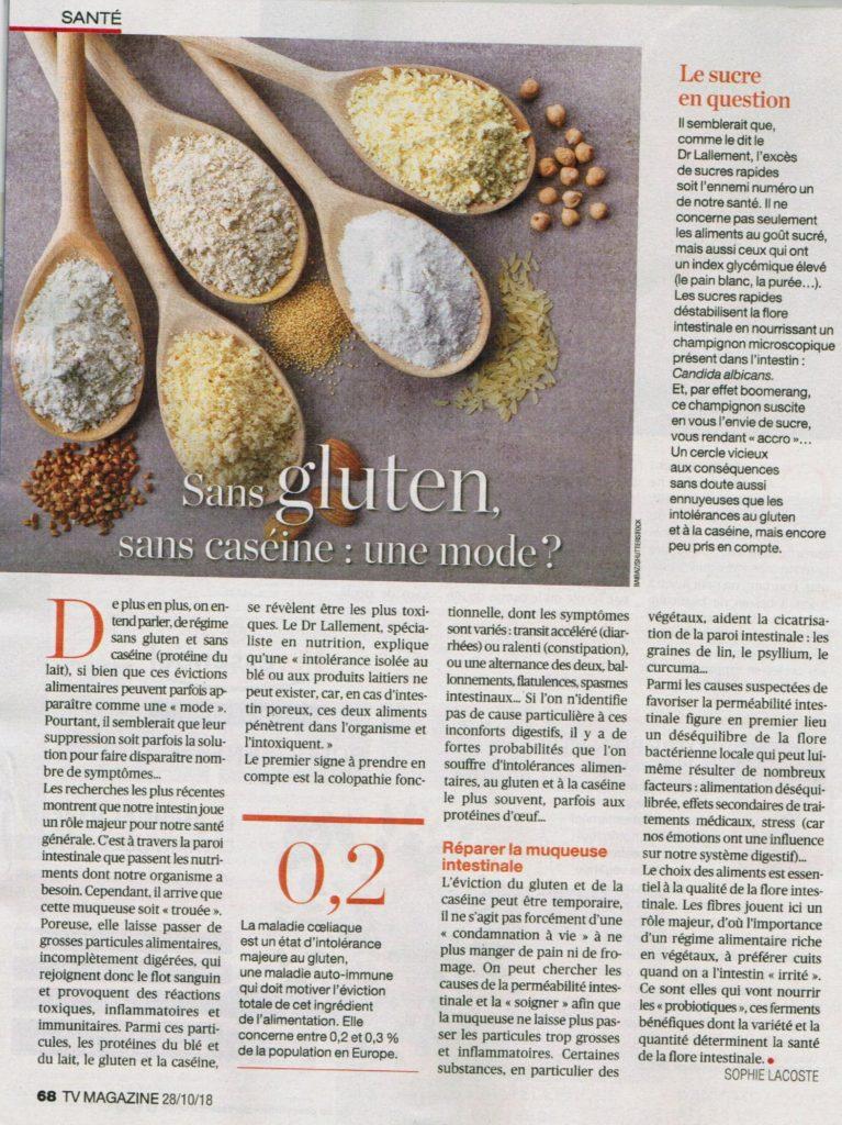 Photo tv magazine le bien public le sans gluten
