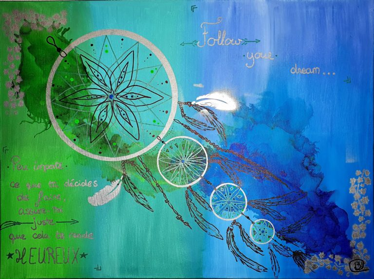 Follow your dream - L'Empreinte Barbara Cottier - Toile  80X60cm